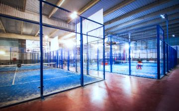 Indoor Paddle Courts Front Air Congress Hotel Barcelona